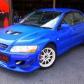 Mitsubishi lancer Evo VII GSR (2001): Frontansicht